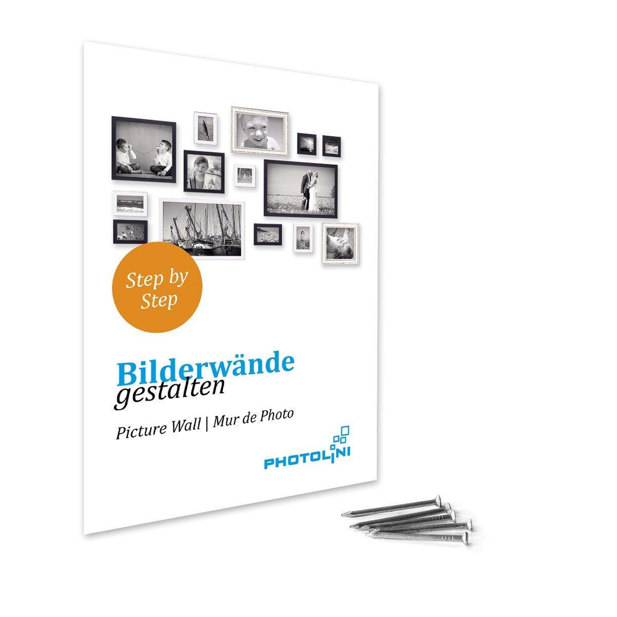 Amazon.de: PHOTOLINI Bilderrahmen Pastell/Alt-Weiß Silber 20x30 cm ...