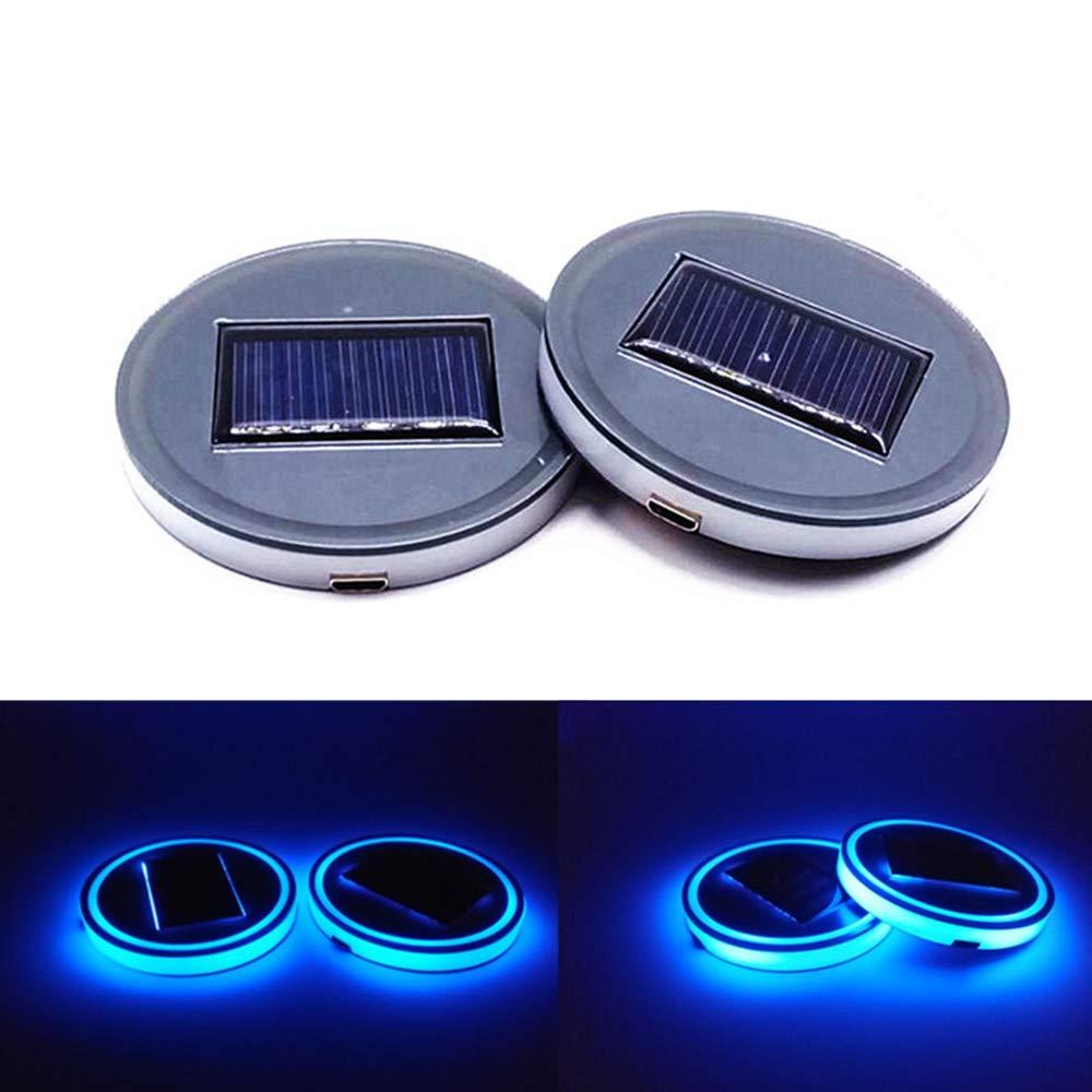 ddellk 1pc Capteur de lumière à LED Cup Cup Cup Coaster - Décoration d\'intérieur de voiture USB Ambiance de boisson lumineuse pour toutes les voitures