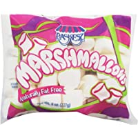 Paskesz White Marshmallows - Pack of 8oz. (227g), Made In The USA, Naturally Fat Free, Kosher Certified