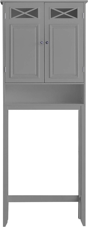 Elegant Home Fashions Dawson Over The Toilet Storage with Grey Finish