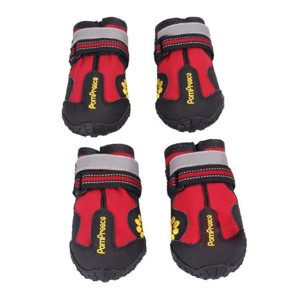 (4(Long6.5CM 2.55 )) Dumanfs 2017 Summer Waterproof Pet Boots for Medium to Large Dogs Labrador Husky shoes