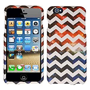 Cell Armor Slim Line Case Apple Iphone 6 Plus Case Texture Hard Cover (Galaxy, White, Chevron, Waves) AT&T, T-Mobile, Sprint, Verizon, Boost Mobile, U.S Cellular, Cricket by Maris's Diary