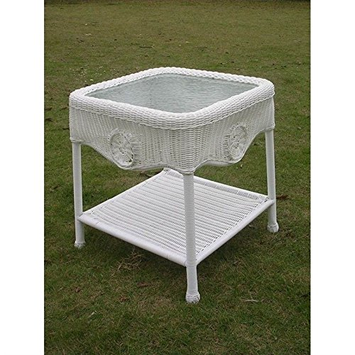International Caravan 3196-WT-IC Furniture Piece Wicker Glas