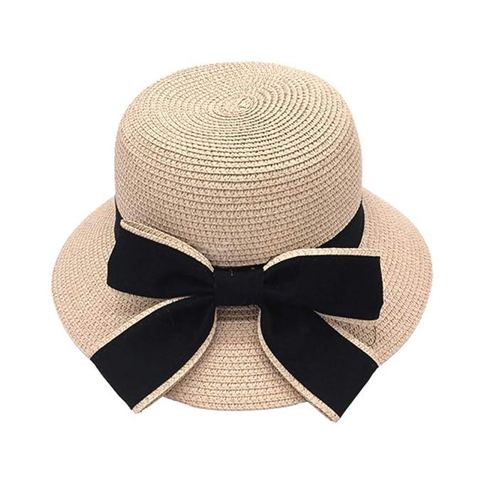 Leisial Sombrero al Aire Libre de Protector Solar Gorra de Playa Sombrero  para el Sol Paja Sombrero Gancho de Mano Ocio Verano para Mujer  Amazon.es   Ropa y ... e3fd1eb2239