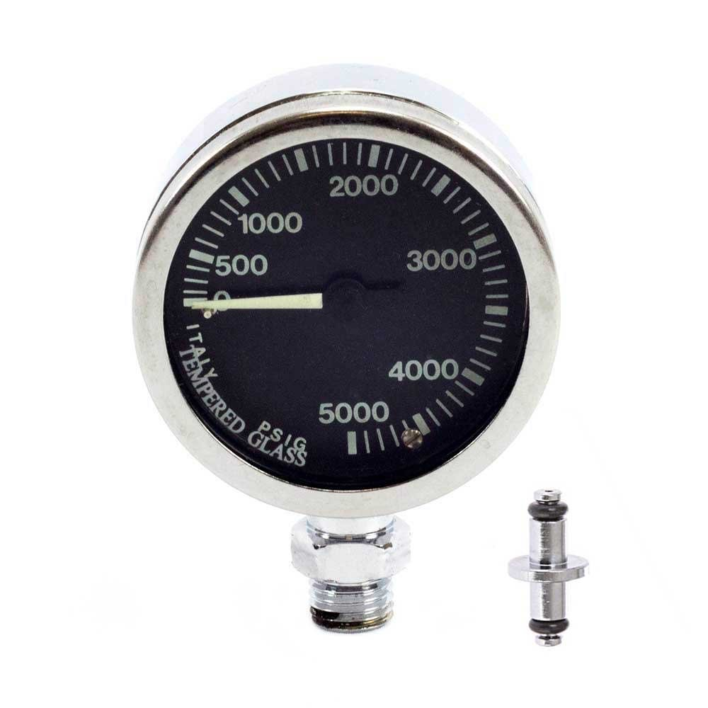Sopras Sub SOPRAS TEK PRESSURE GAUGE 5000 psi {50MM - 2, 0} IMPERIAL SCUBA TANK SPG BRASS AND GLASS