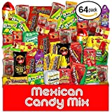 Mexican Candy Assortment Snacks (64 Count), Variety Of Spicy, Sweet, Sour Bulk Candies Dulces Mexicanos, Includes Lucas Candy, Pelon, Vero Lollipop, Pulparindo Makes A Great Gift By MTC.