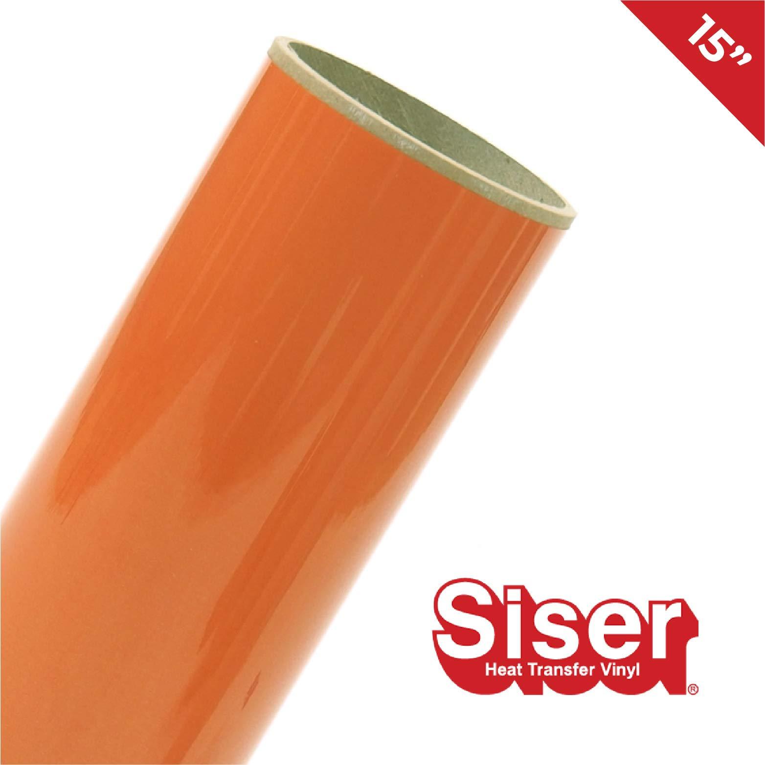 Siser EasyWeed HTV 15'' x 20ft Roll - Iron on Heat Transfer Vinyl (Orange) by SISER