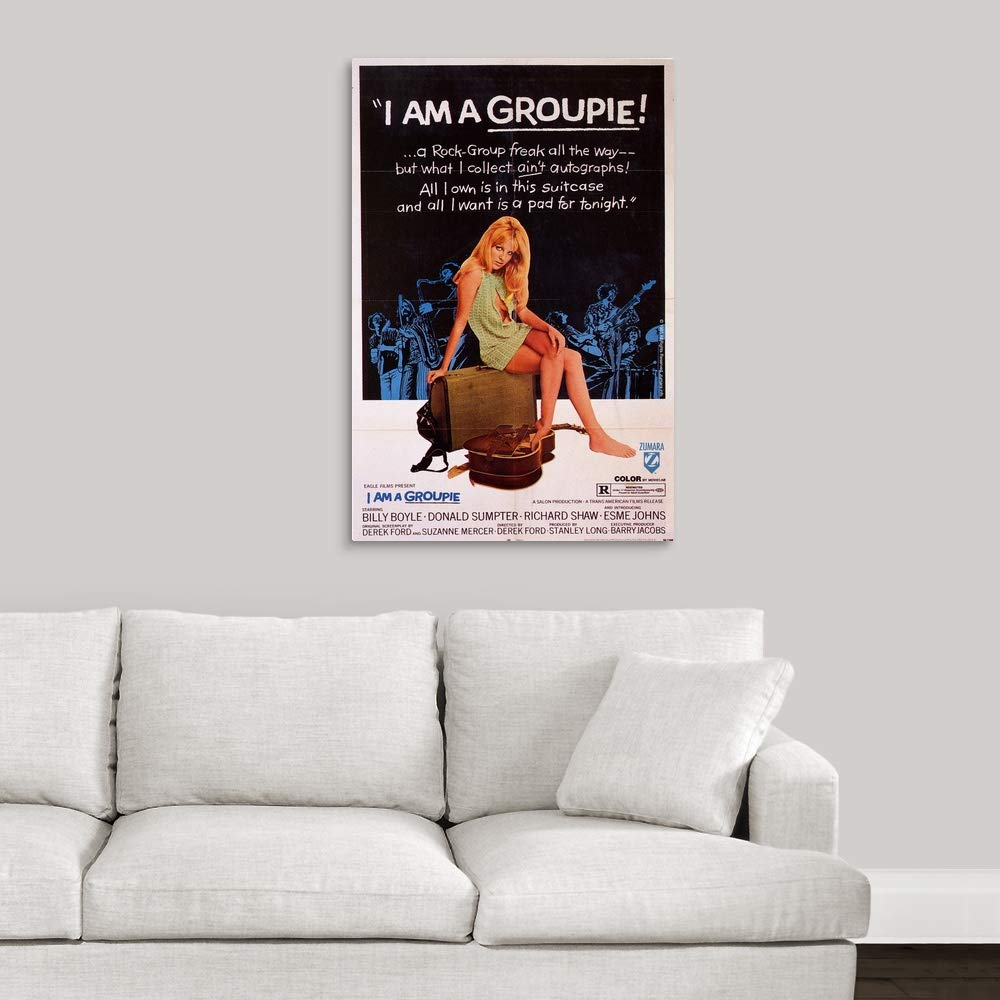 Amazon.com: I Am A Groupie Canvas Wall Art Print, 24