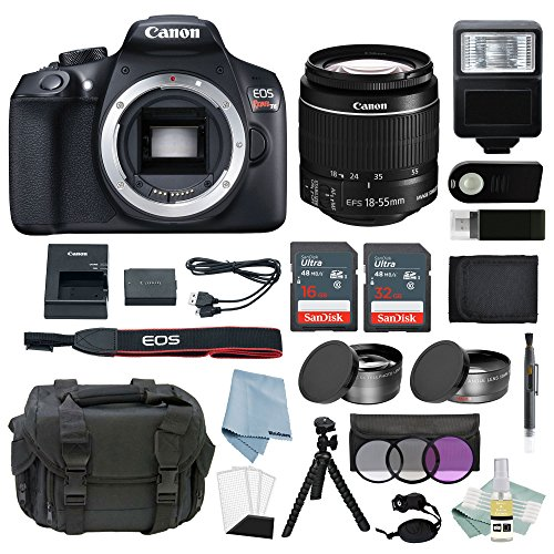 Canon EOS Rebel T6 Bundle With EF-S 18-55mm f/3.5-5.6 IS II Lens + Best Canon Camera Advanced Accessory Kit – Including EVERYTHING You Need To Get Started