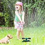HonPaul Lawn Sprinkler,Impact Sprinker, 360 Degree Rotating Sprinkler Irrigation System, Used for Garden, Lawn Outdoor Automatic Sprinkler, Oscillating Rotary High Impact Sprinkler System,Sprinklers