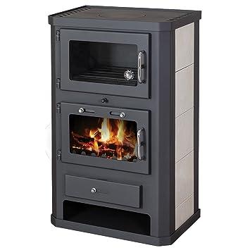 Estufa de leña para horno, 11 - 15 kW, revestimiento de ...