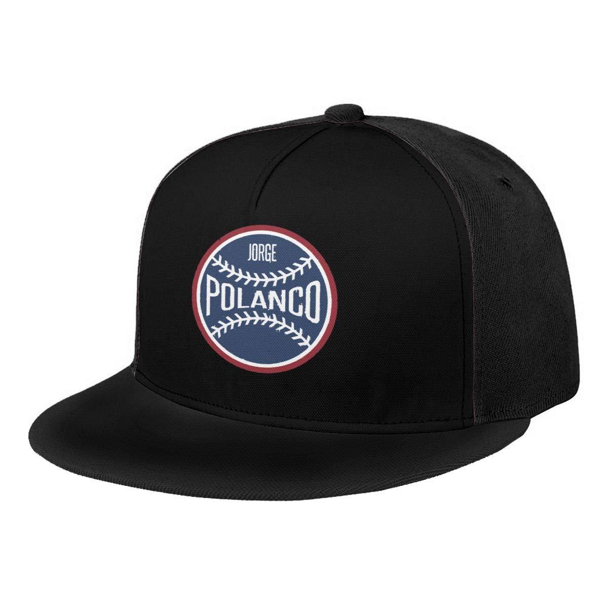 DeniCar Unisex Adjustable Baseball Caps Jorge-Polanco-Baseball-Logo Skull Cap