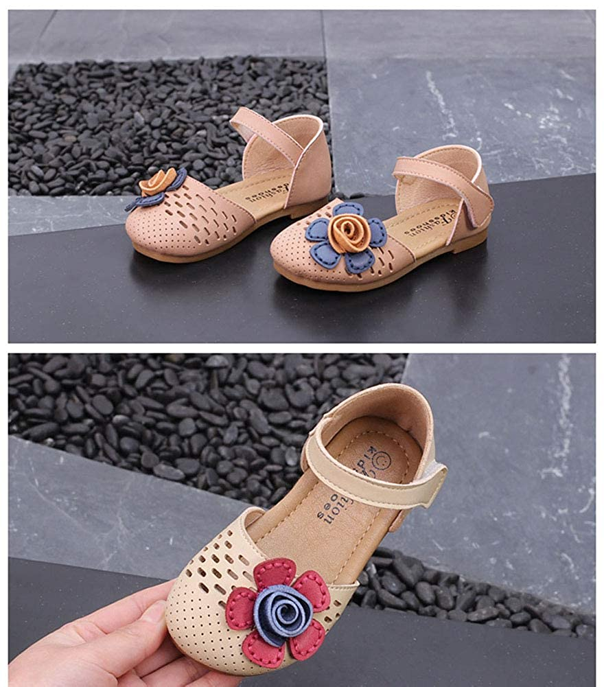 Mubeuo Cute Floral Leather Kids Toddler Sandles Girls Sandals