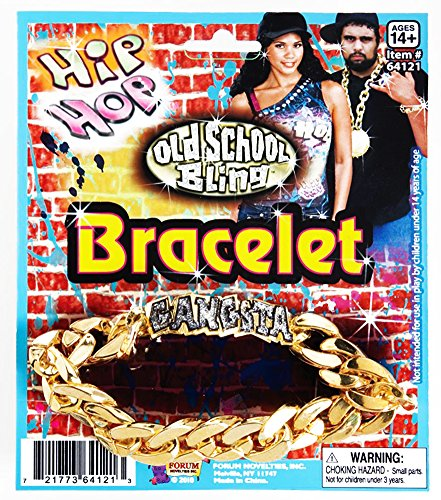 Forum Novelties 64018 Hip Hop Gangster Id Bracelet