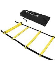Navaris Scala per Allenamento Calcio 6m - scaletta per Fitness Training Speed Agility Ladder - Scala per Esercizi agilità e velocità con Borsa