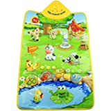 Tonsee Music Sound Farm Animal Kids Baby Play Playing Mat Carpet Play mat Gym Toy, 60cm x 40cm/23.62 x 15.75 inch