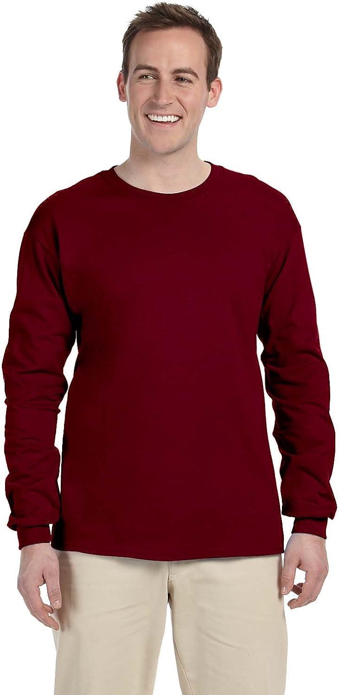 FoTL 4930 Mens Heavy Cotton Long-Sleeve Tee 3XL Maroon 2 Pack