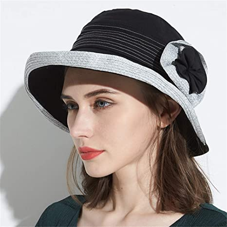 KCJMM-HAT Sombrero Mujer Vacaciones, Sombrero de Pescador con SOGA de Cuero, algodón y Lino. Sombrero de Sol de Verano para Mujer. Sombrero de Damas de Primavera y Verano. Rosa -B.: Amazon.es: Deportes