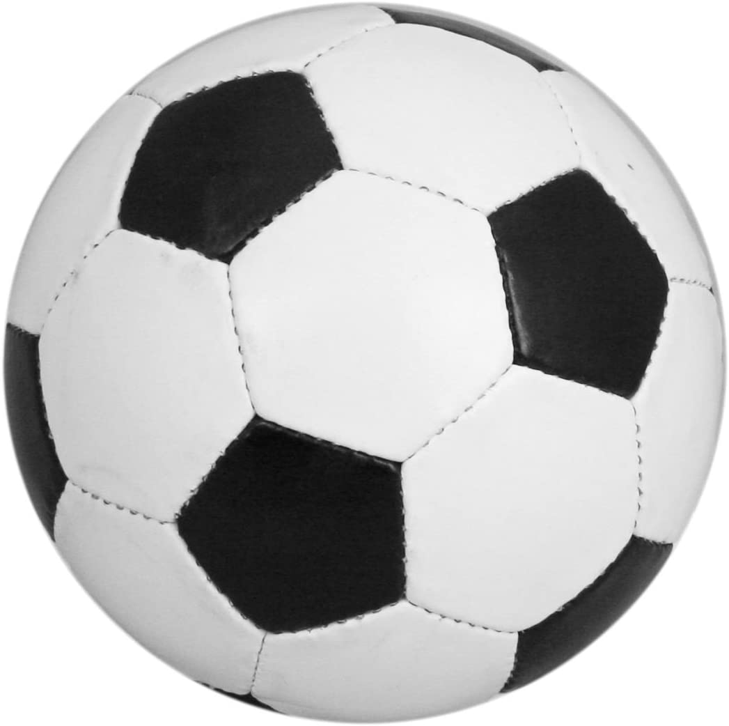 Traditional Size 5 Black And White Leather Football by Carousel ...