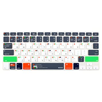 Mosiso Silicone Keyboard Cover With Pattern Compatible Macbook Pro 13//15 In