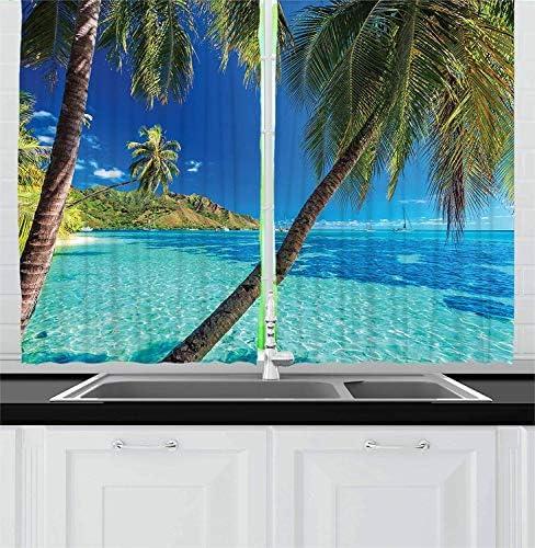 ZOE STORE Ocean Kitchen Curtains 104x96in
