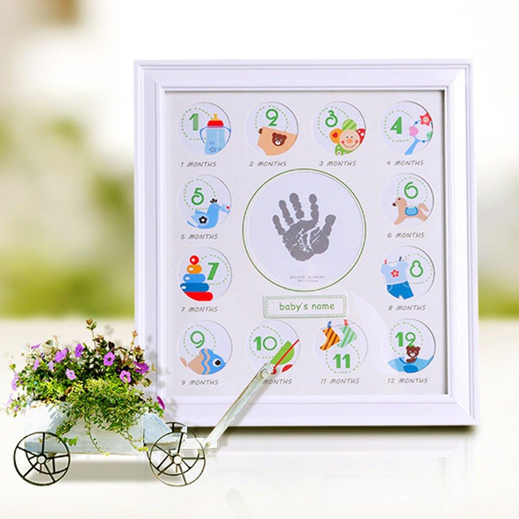 regalo para reci/én nacido recuerdos de primer cumplea/ños recuerdos de bautizo Marco de fotos para beb/é con dise/ño de texto en ingl/ésMy First Year Phots ideal como regalo para reci/én nacidos