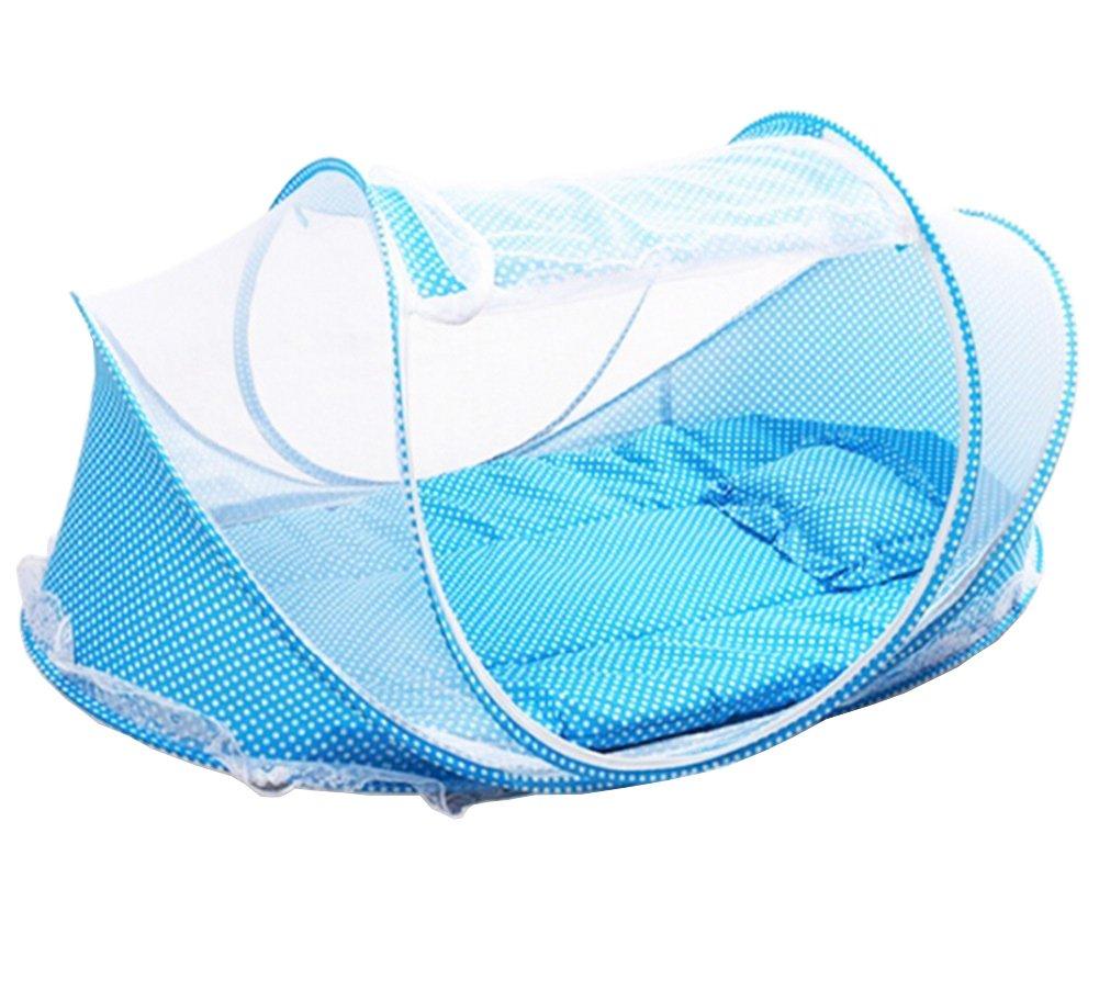 color azul marca Laat con colch/ón y almohada Tienda mosquitera plegable para beb/és