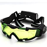 Allytech Green Lens Adjustable Elastic Band Night Vision Goggles Glasses Eyeshield M2