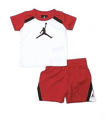 ffbfab5edc9e Nike Air Jordan Jumpman Shirt and Short Set (3 6 Months)  Amazon.co ...
