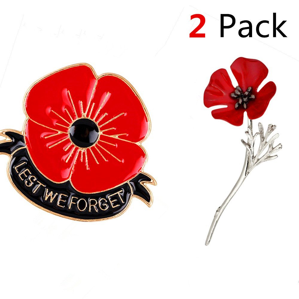 Amazon Aszune Poppy Flower Brooch Set Of 2 Pcs With A Lest We