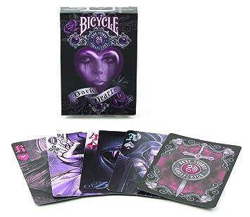 Fournier Black Hearts by Anna Stokes Baraja de Poker colección, Coleccionistas, Negro