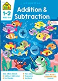 School Zone - Addition &  Subtraction 1-2 Deluxe Edition Workbook, Ages 6 to 8, Addition Facts, Subtraction Facts, Fact Tables, Fact Families, Adding Doubles, and More