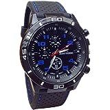 Fitfulvan Fashion Elegant Round Quartz Watch men Sports Watch Men Military Watches Silicone Band Watches Quartz