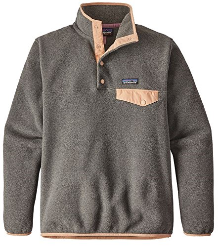 Patagonia Womens Fleece (Patagonia Womens RE-Tool Snap-T Fleece Pullover (Small, Nickel w/Rosewater))