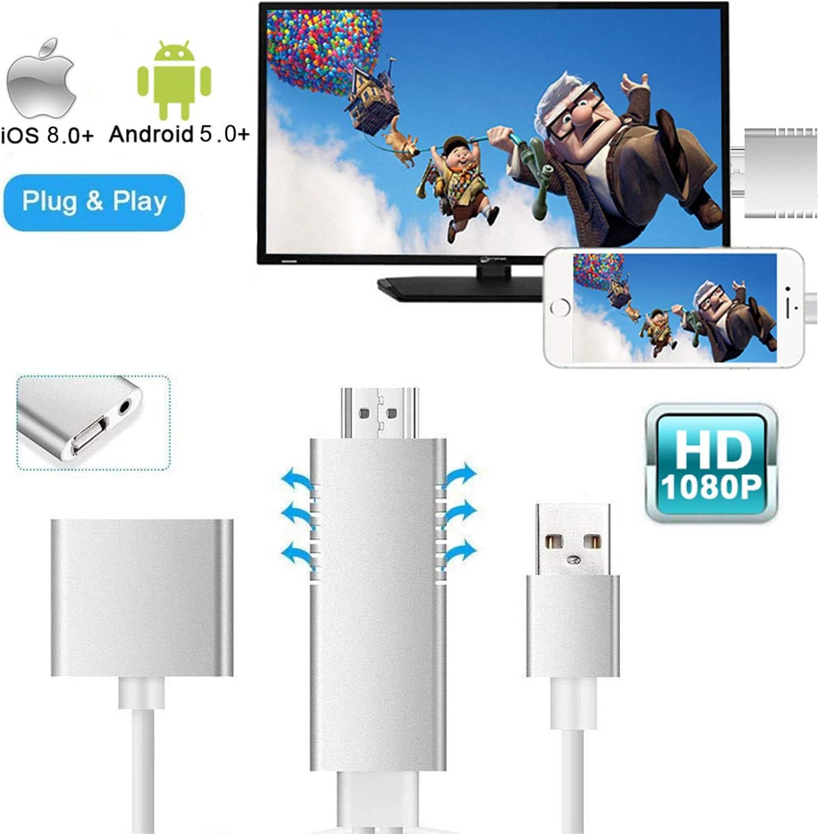 WiFi HDMI HDTV Video Media Player to TV For iPAD iPhone x 5S 6 7 8 Android iOS