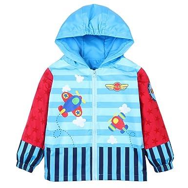 d14ad495d LZH Baby Girls Boys Raincoat Windbreaker Hooded Bomber Jacket ...