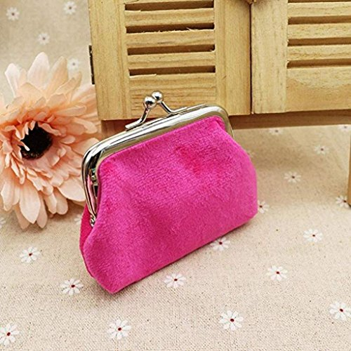 small Mini cute Purse 2018 Coin Clearance Hasp wallets Clutch Noopvan Wallet Bag Corduroy Hot Lady Wallet Pink qpX7OxT