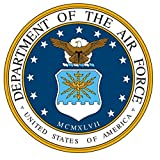 1 Set Famous Fashionable United States Department of The Air Force Stickers Sign Bumper Vinyl Doors Size 5