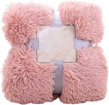 Hug /& Confortable moelleux fourrure jeté de luxe Couverture Canapé Lit chaud Assorti Housse de coussin