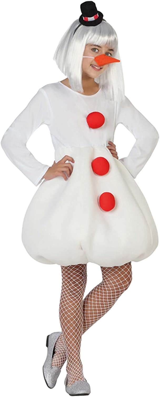 Atosa - Disfraz muñeco de Nieve, niña t3: Amazon.es: Juguetes y juegos