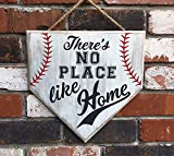 IvyDalton No Place Like Home Baseball Wood Sign Home Plate Rustic Baseball Softball Mom Mother'S Day Gift Mom