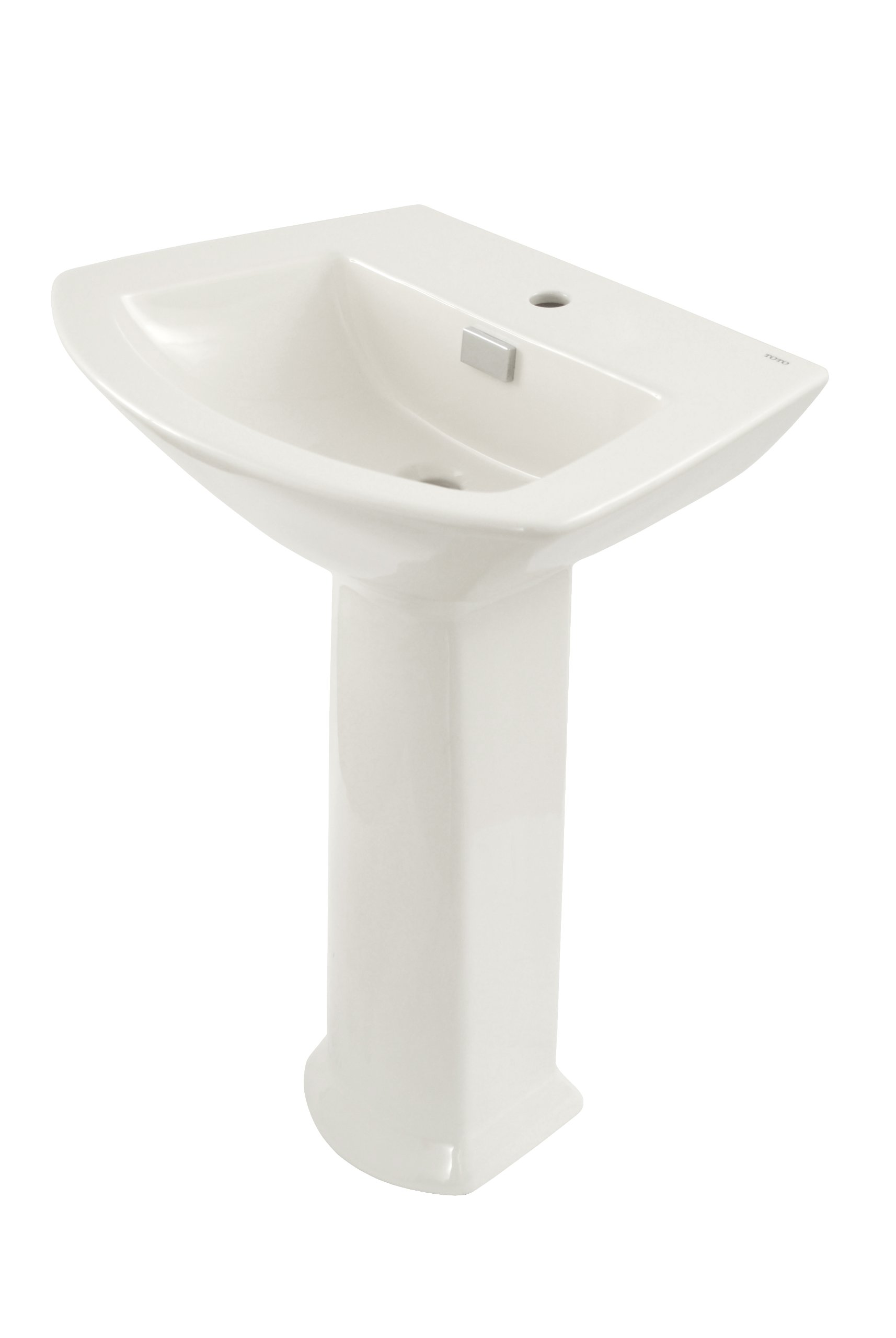 TOTO LPT960#01 Soiree Lavatory and Pedestal with Single Hole, Cotton White