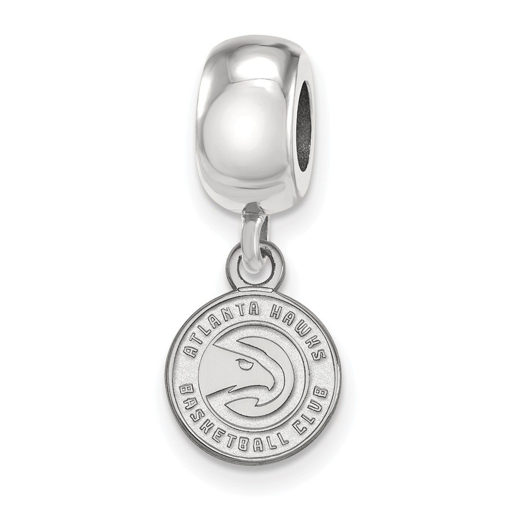 Sterling Silver NBA LogoArt Atlanta Hawks XS Dangle Bead Charm