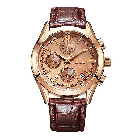 ChenHui Reloj, Reloj Luminoso a Prueba de Agua, Reloj Pequeño de Tres Agujas de