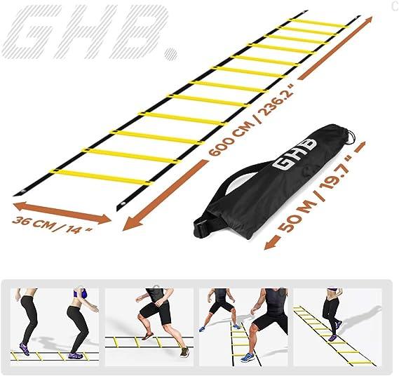 GHB - Escalera de agilidad de 6 m para entrenamiento de fútbol ...