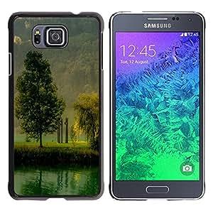TopCaseStore / la caja del caucho duro de la cubierta de protección de la piel - Nature Beautiful Forrest Green 184 - Samsung GALAXY ALPHA G850