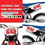 3x Custom Decal Stickers for Dirt bike Motorcycle