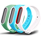 Awinner Colorful Waterproof Replacement Bands for Xiaomi Mi Band 2 Smart Miband 2nd (No Activity Tracker) (Blue,Cyan,White)