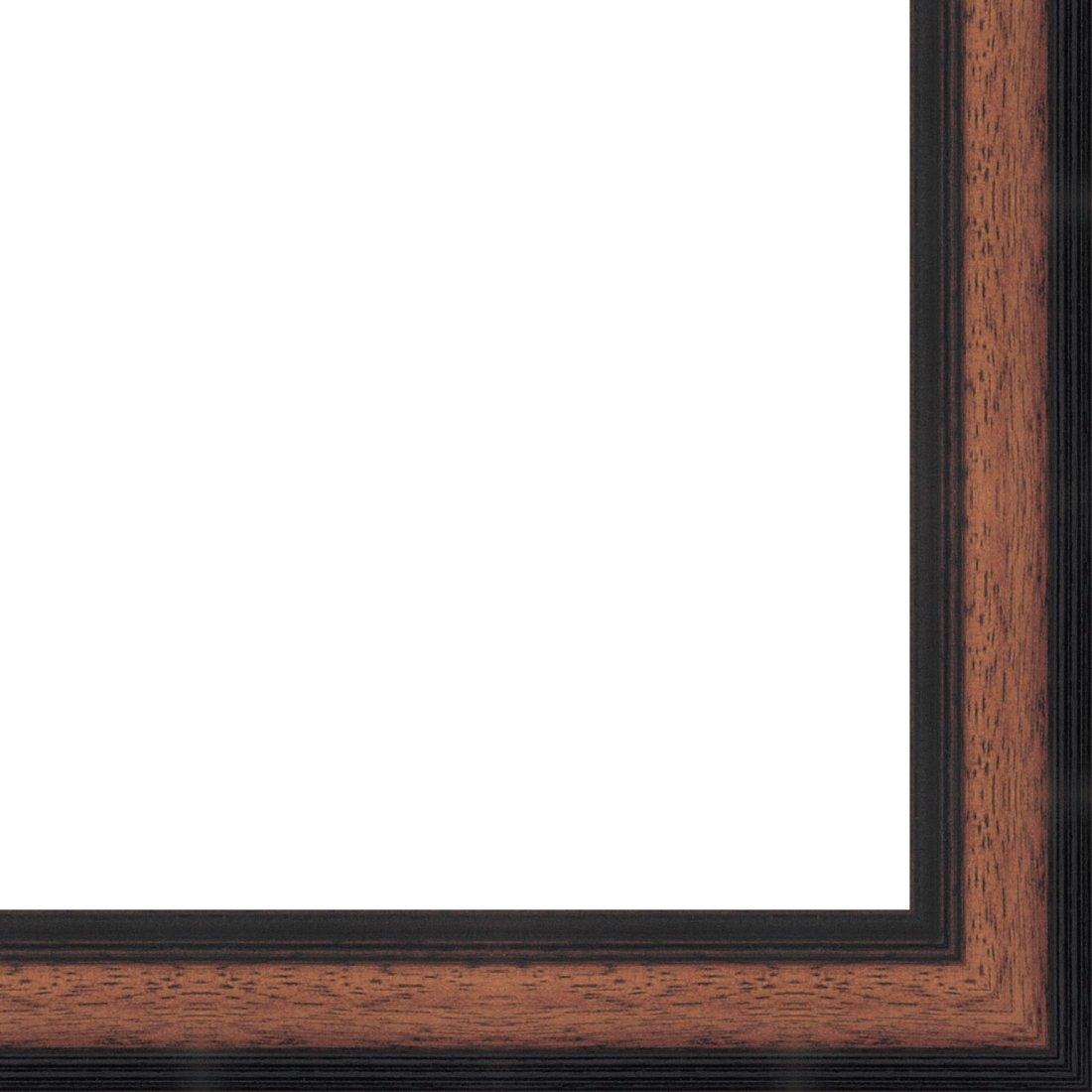 Picture Frame Moulding (Wood) 18ft bundle - Traditional Walnut Finish - 1.25'' width - 7/16'' rabbet depth