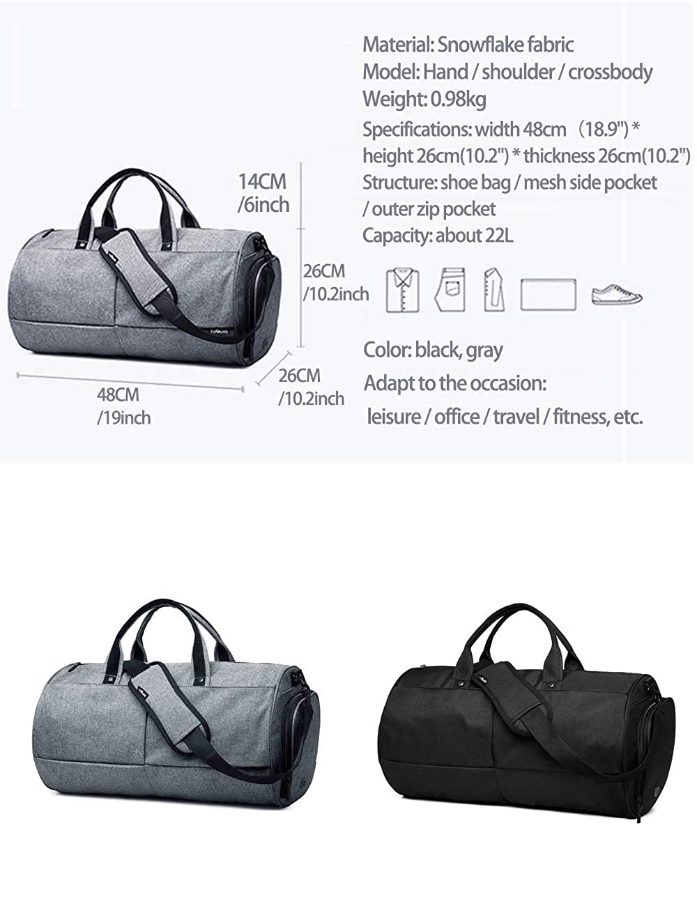 2bdf7f5c73d Ba Cabin Baggage Easyjet Hand Luggage Cargo Holdall - Onboard Travel Huge  Duffel Flight Bags With Wet Pocket And Shoes Compartment TAAMBAB:  Amazon.co.uk: ...